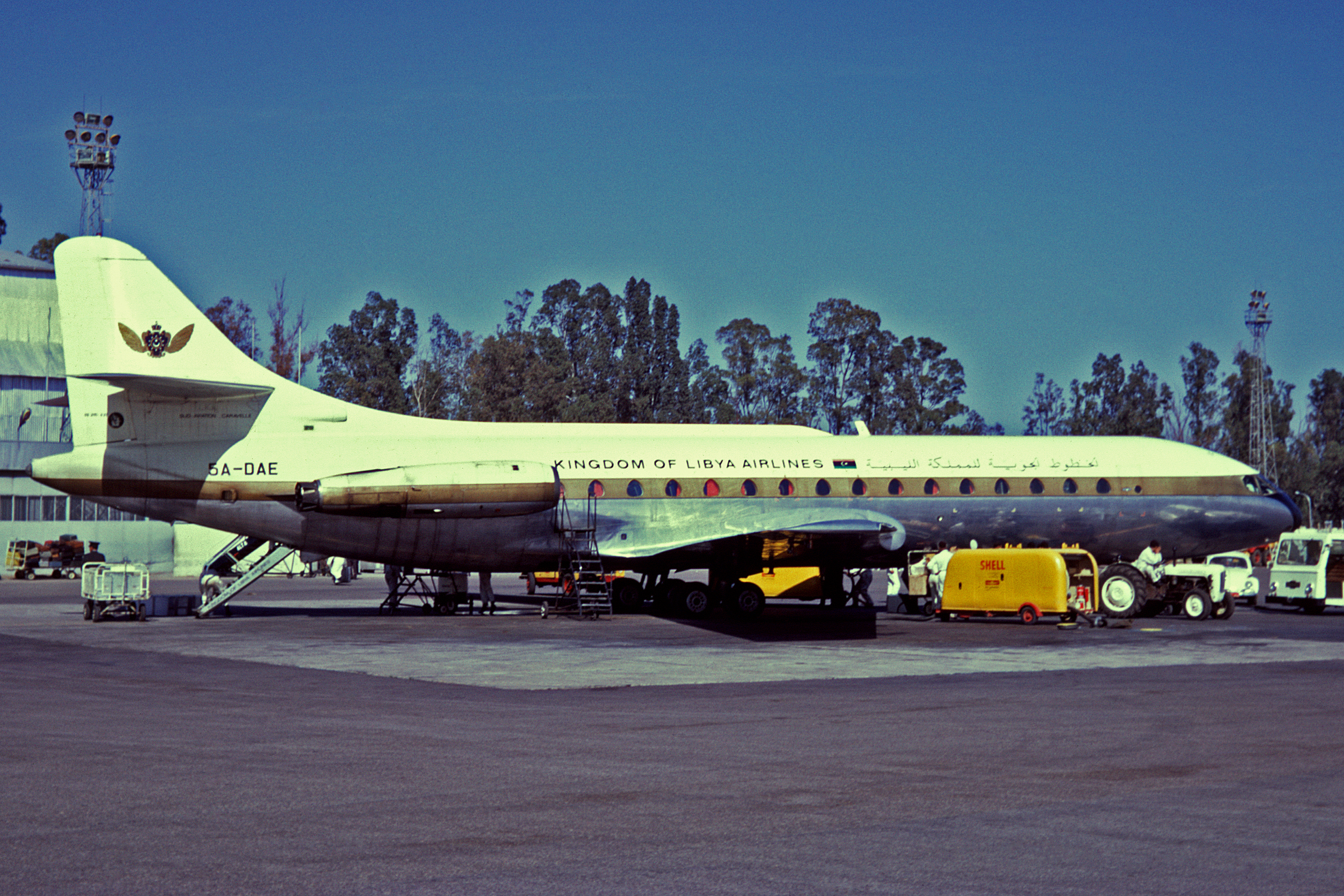 File:5A-DAE Sud Aviacion SE210 Caravelle 6R Kingdom of Libya