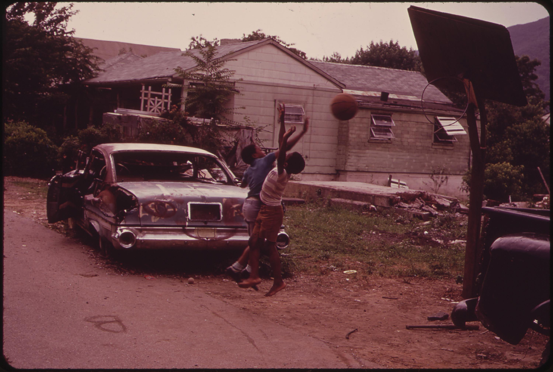 File:A basketball game on unpaved Church Avenue, Rand, West Virginia. - NARA - 551031.jpg ...