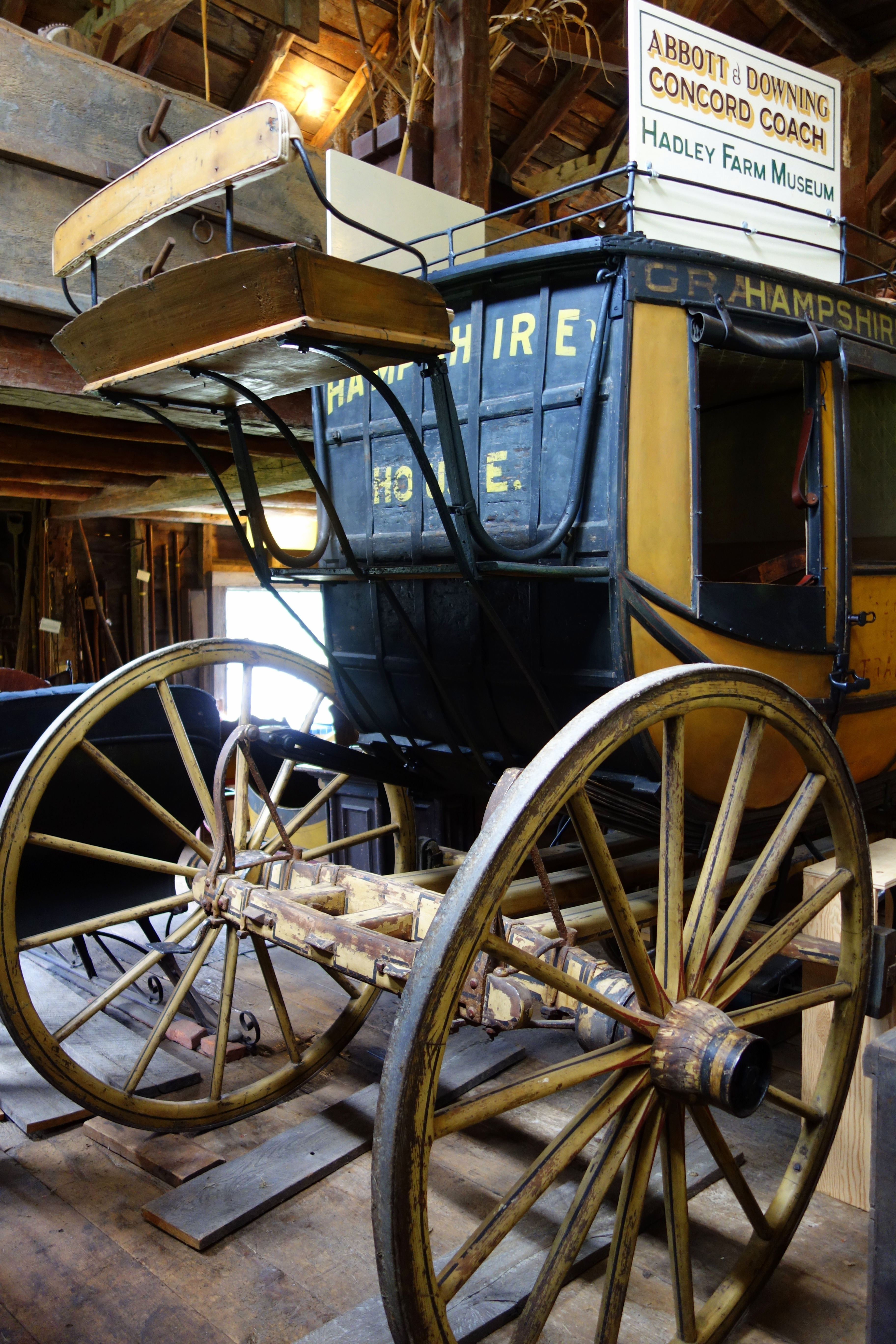 file:abbott & downing concord coach, view 3 - hadley farm museum