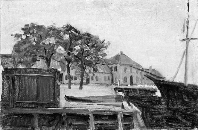 File:Albert Gottschalk - Havn i en lille købstad - KMS3292 - Statens Museum for Kunst.jpg