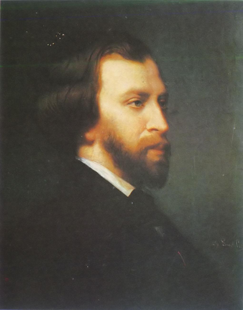 Retrato de Alfred de Musset por Charles Landelle (1854).