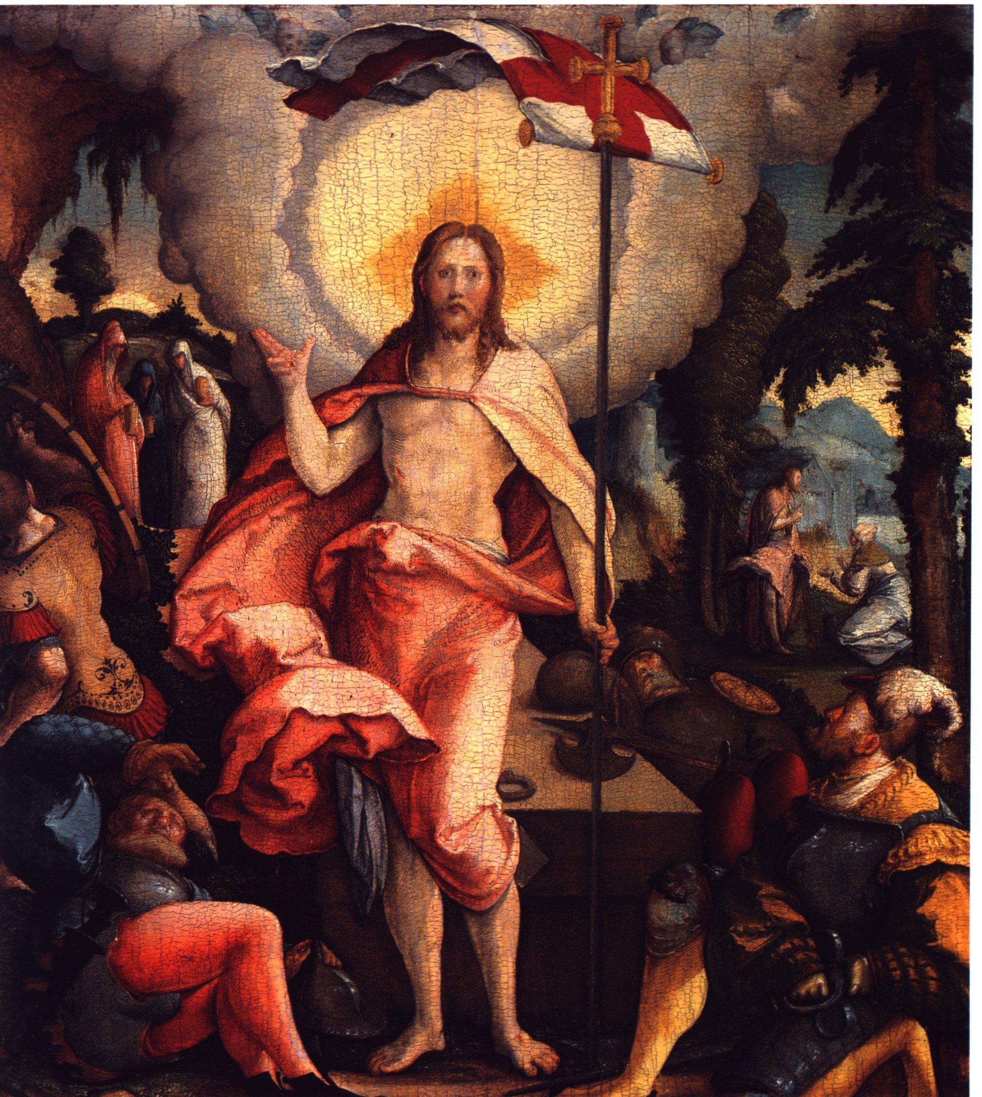 Auferstehung Christi von Meister von Meßkirch um 1535/40, Lizenz:Public Domain