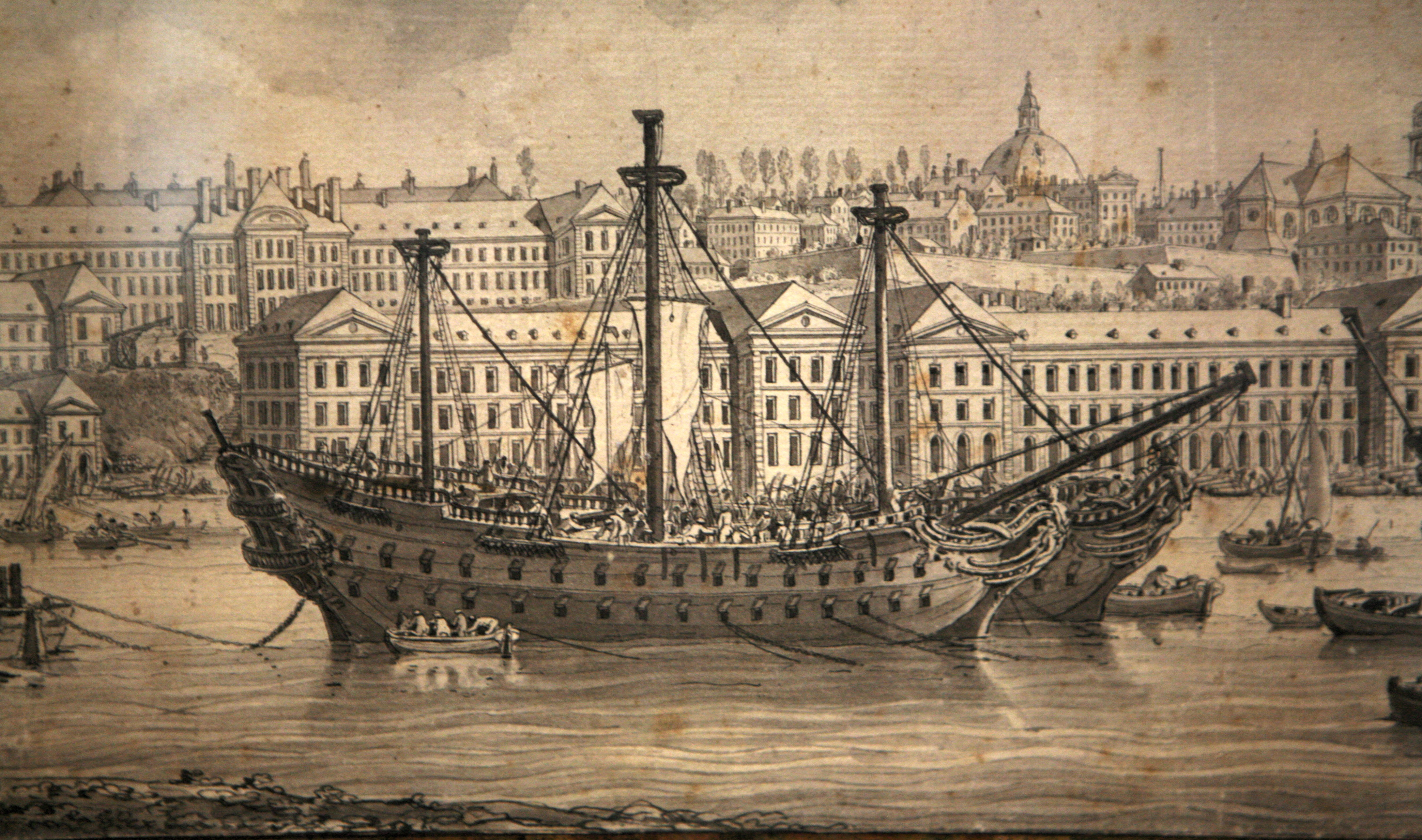 File:Brest le port en Penfeld 1777-Louis-François-Cassas mg 8239