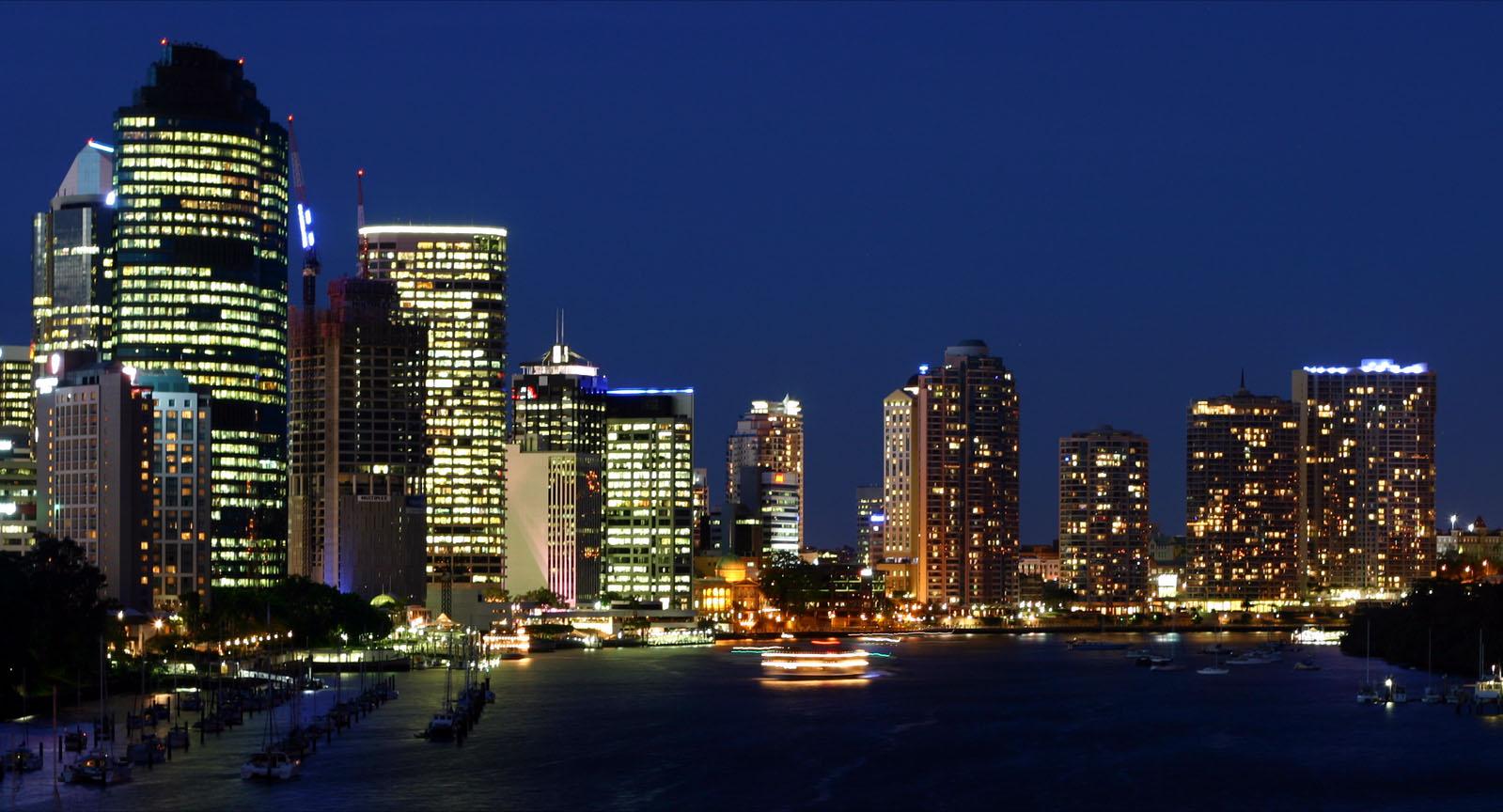Brisbane City Night دانلود افکت های شب شهر