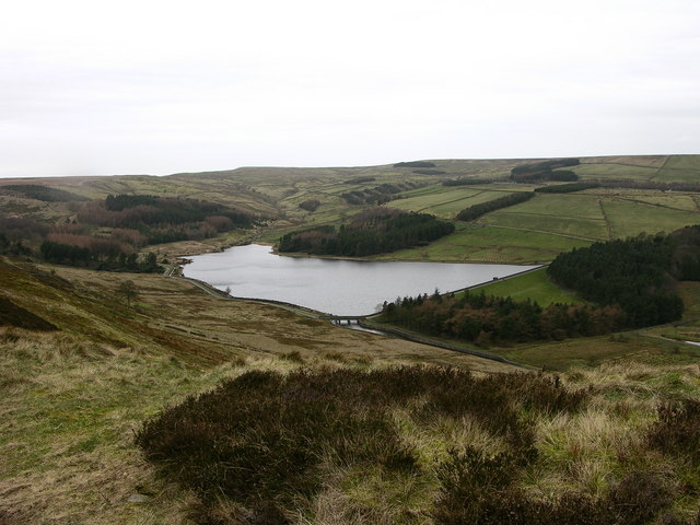 Calf Hey reservoir - geograph.org.uk - 363604
