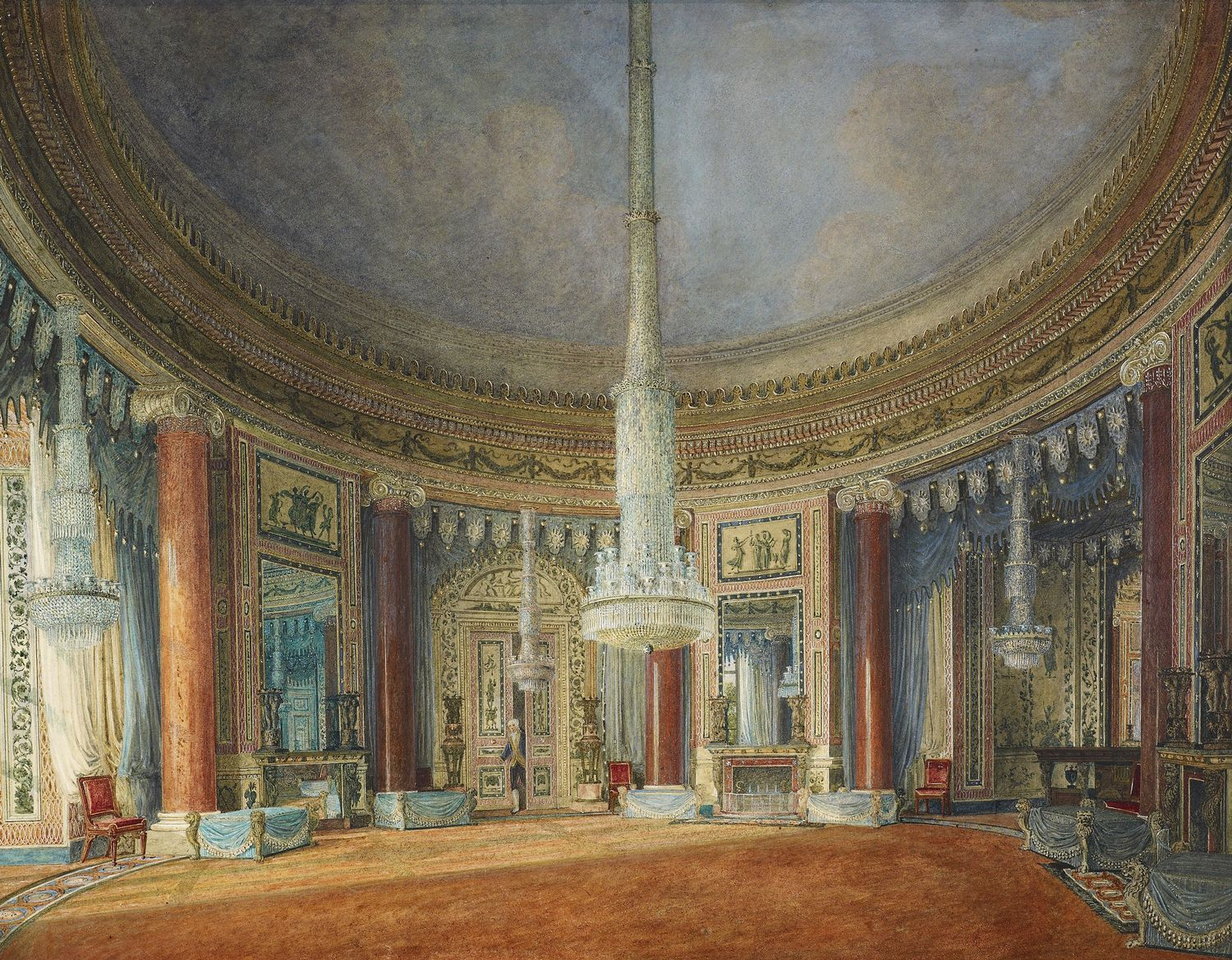 File Carlton House Circular Room By Charles Wild 1817