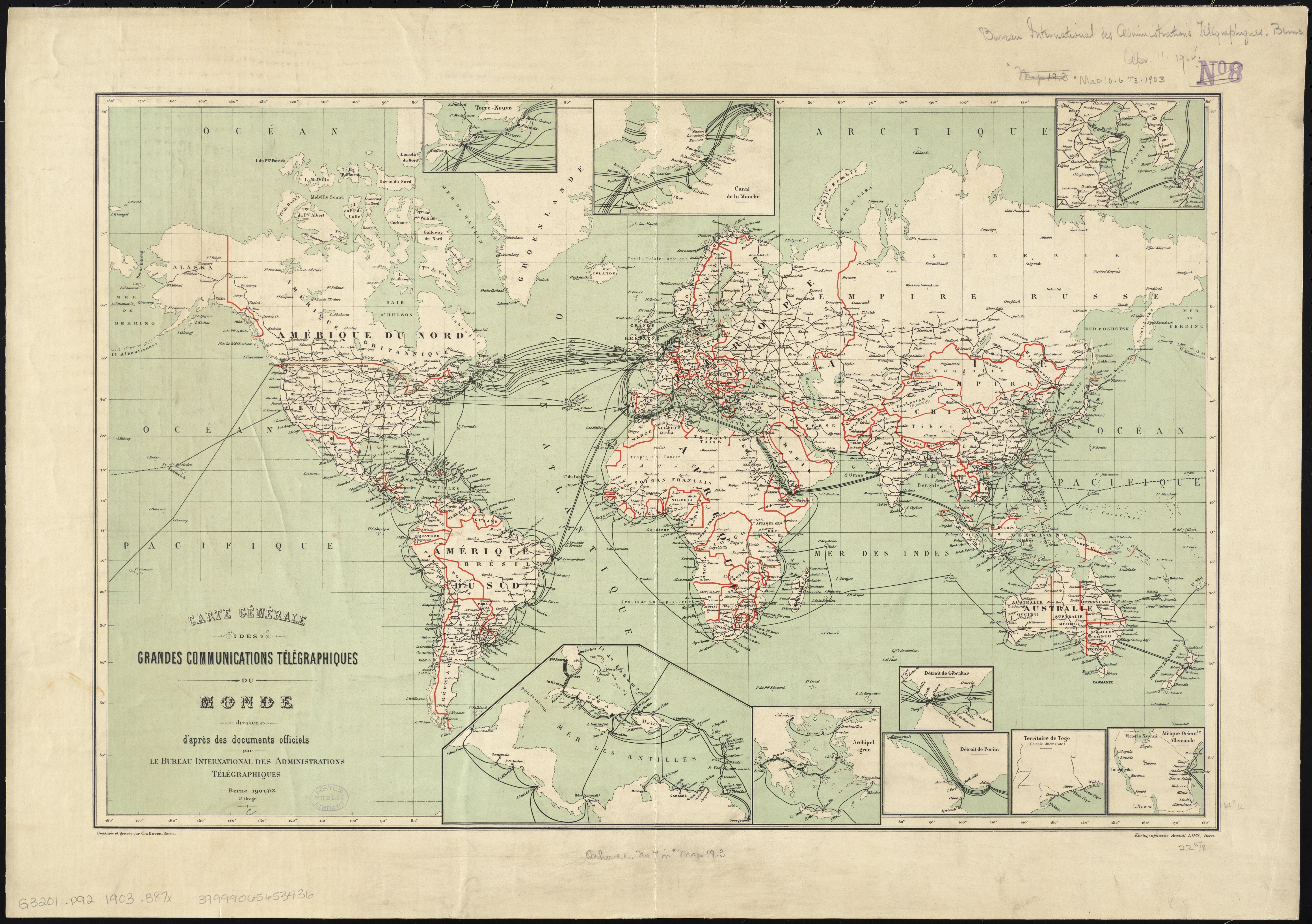 File Carte Generale Des Grandes Communications Telegraphiques Du