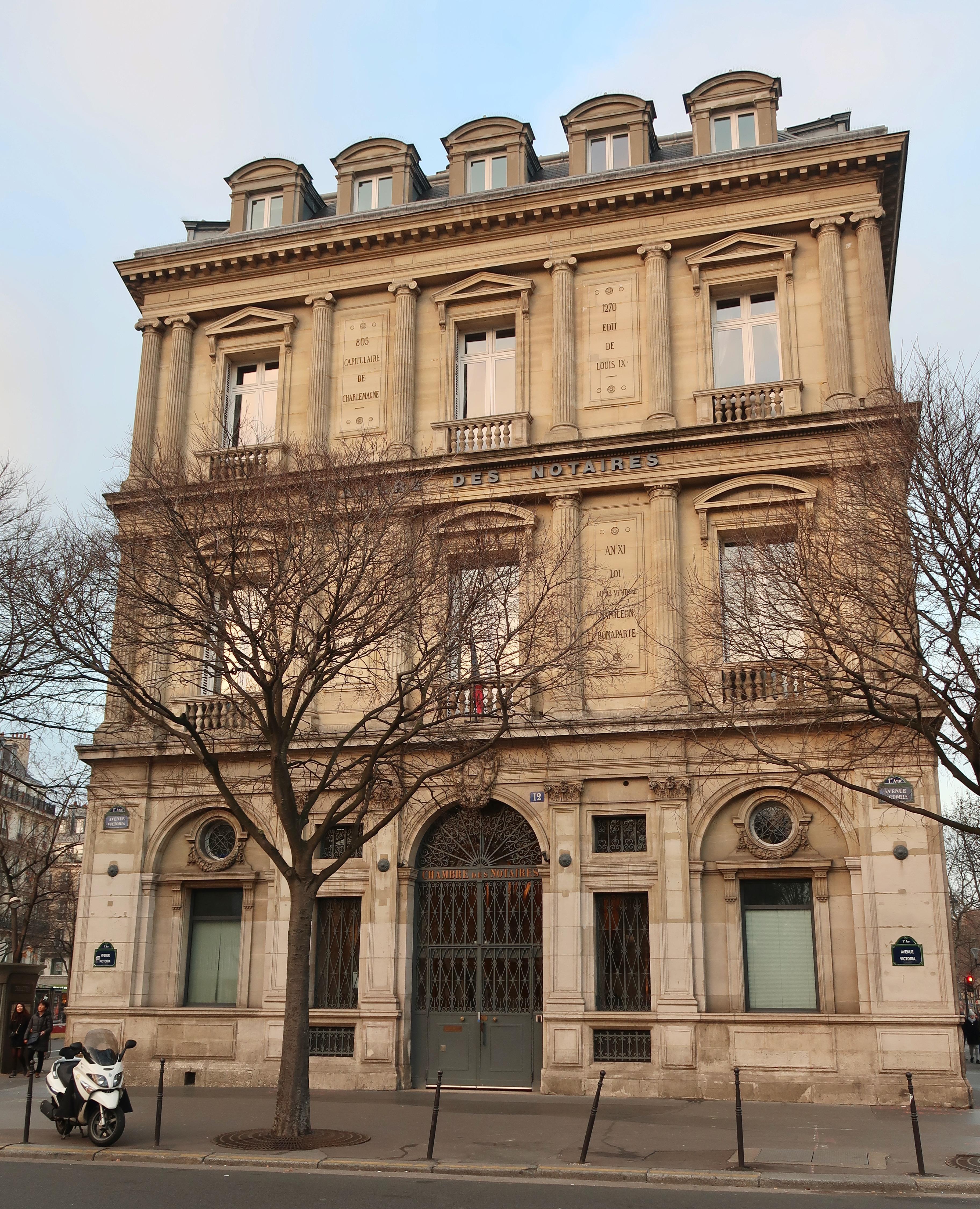 Fichier:Chambre des notaires de Paris, 8 avenue Victoria, Paris