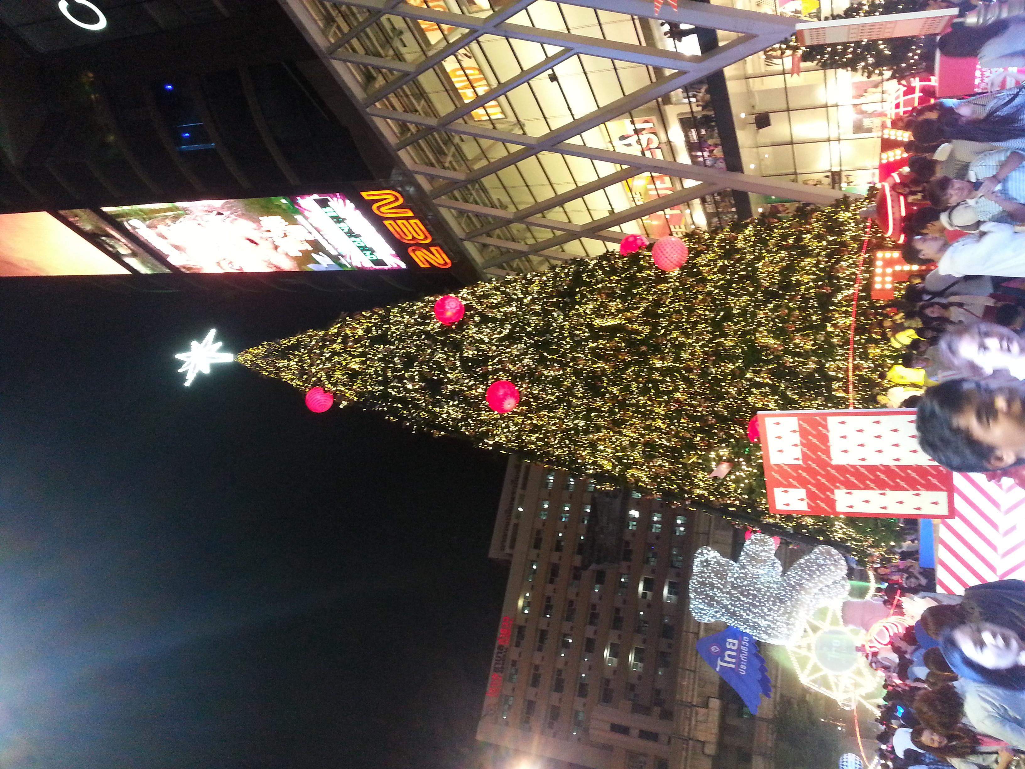 Christmas Tree Outside CentralWorld