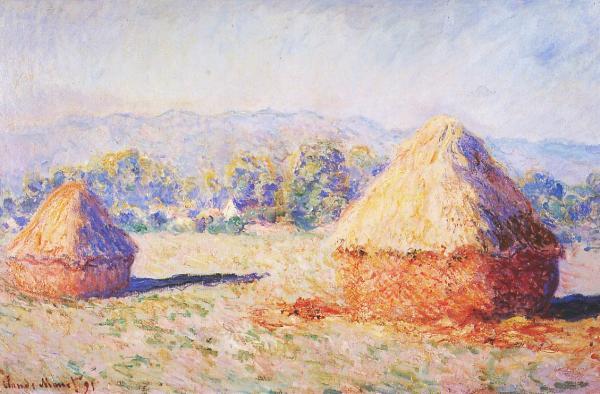 Art critique grainstacks by claude monet