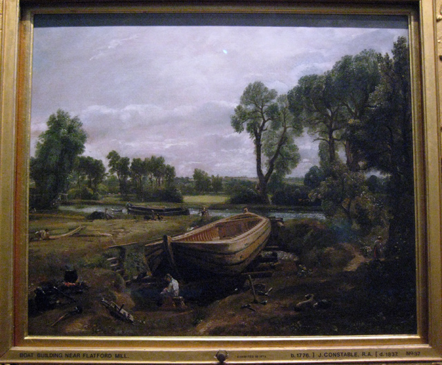 """Constable's """"Boat Building near Flatford Mill"""" - geograph.org.uk - 1195737"""