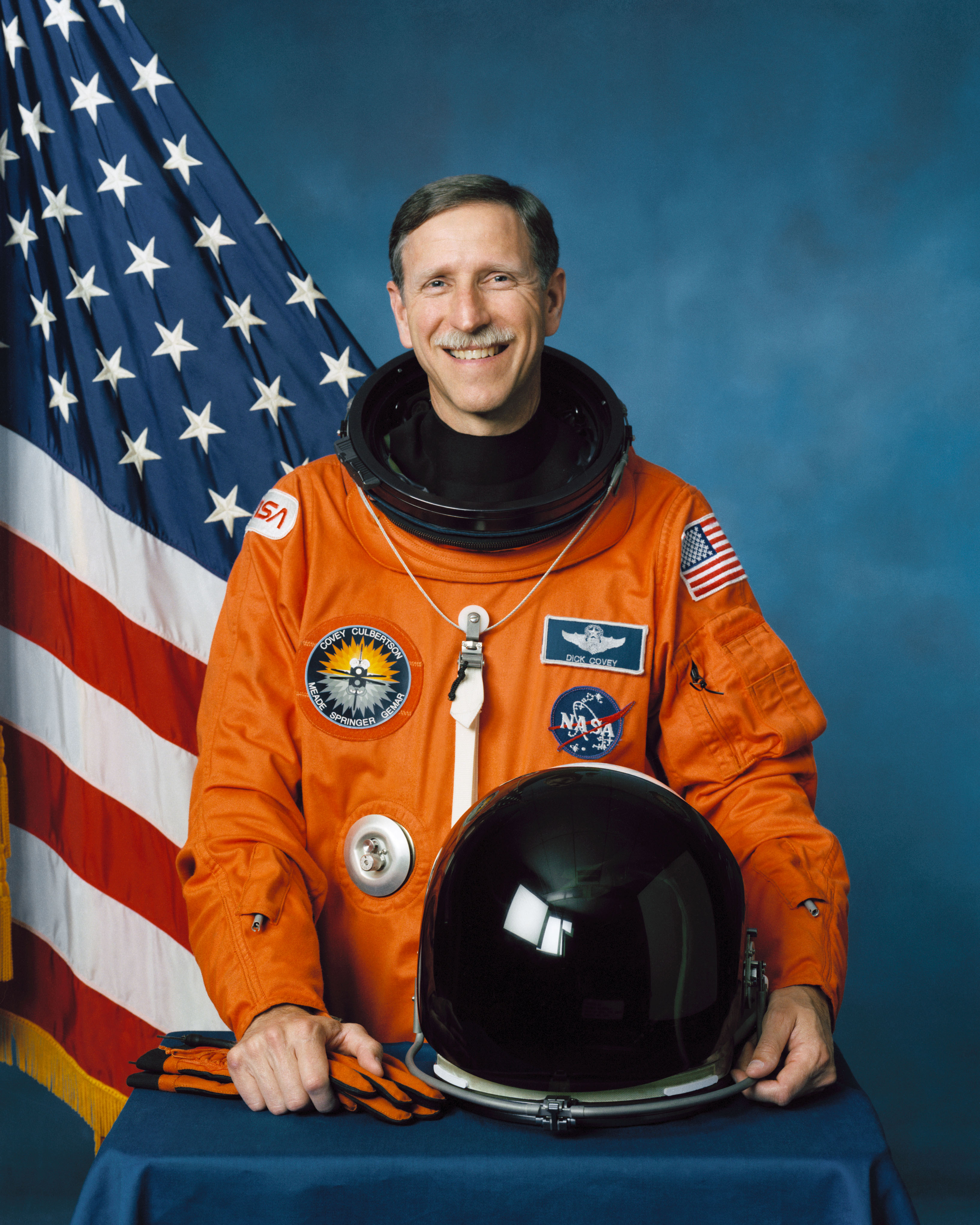 Astronaut Dick Covey, NASA photo Source: Wikipedia (www.jsc.nasa.gov unavailable August 2019) Covey.jpg