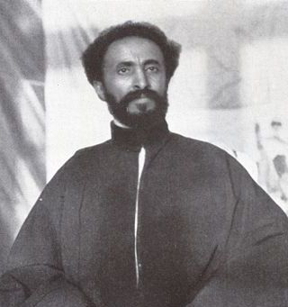 Emperor Haile Selassie, whose coronation Waugh attended in 1930 on the first of his three trips to Abyssinia CropSelassie.jpg