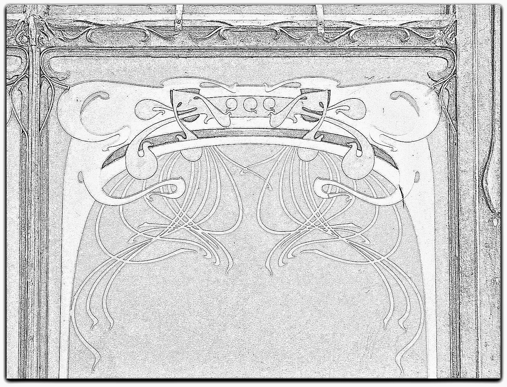 File Decor De La Station Art Nouveau De La Porte Dauphine Hector
