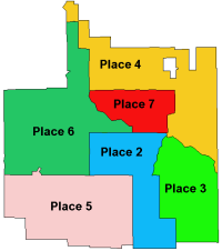 Map of DeSoto's six council districts (places)