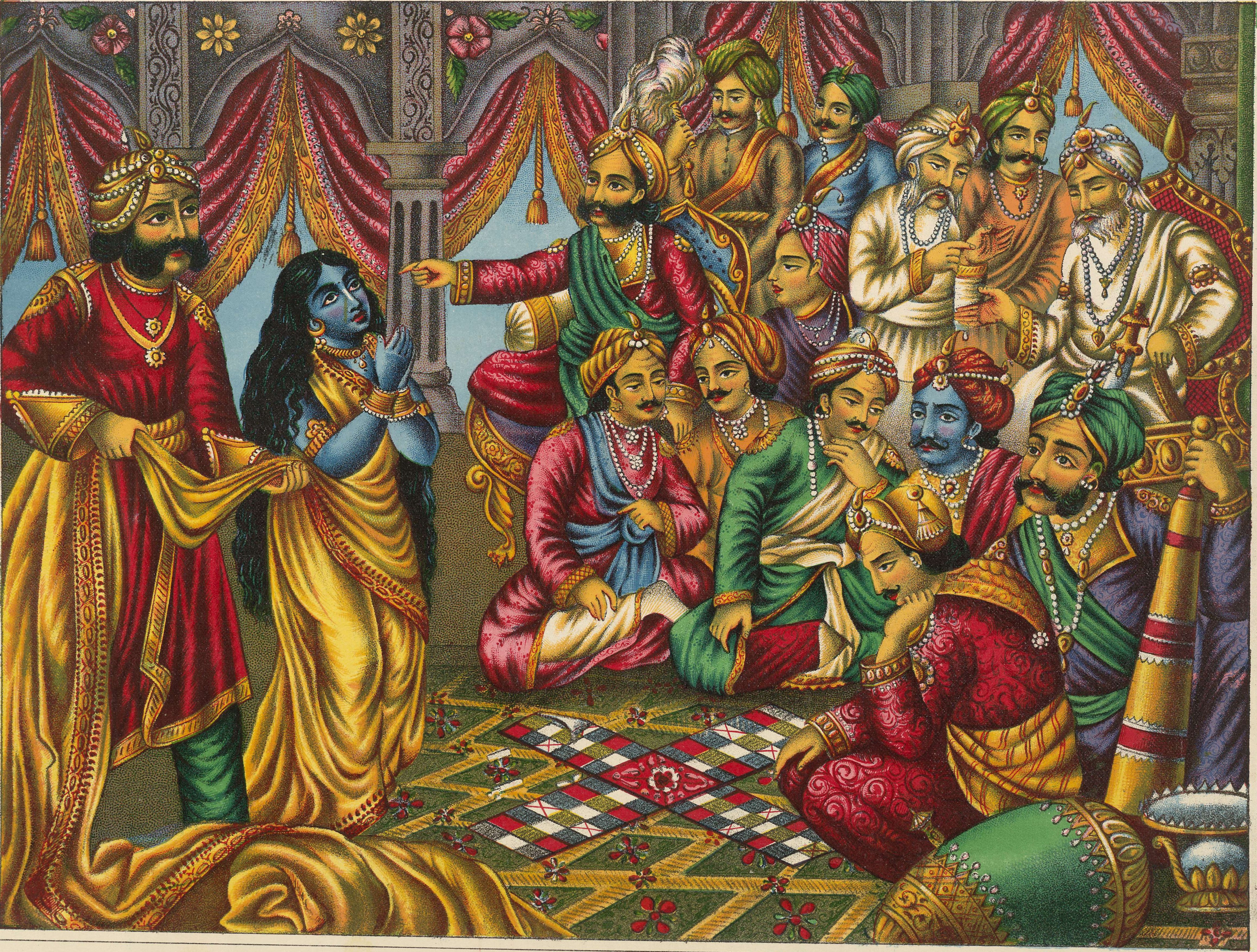 Image result for draupadi and her five husbands