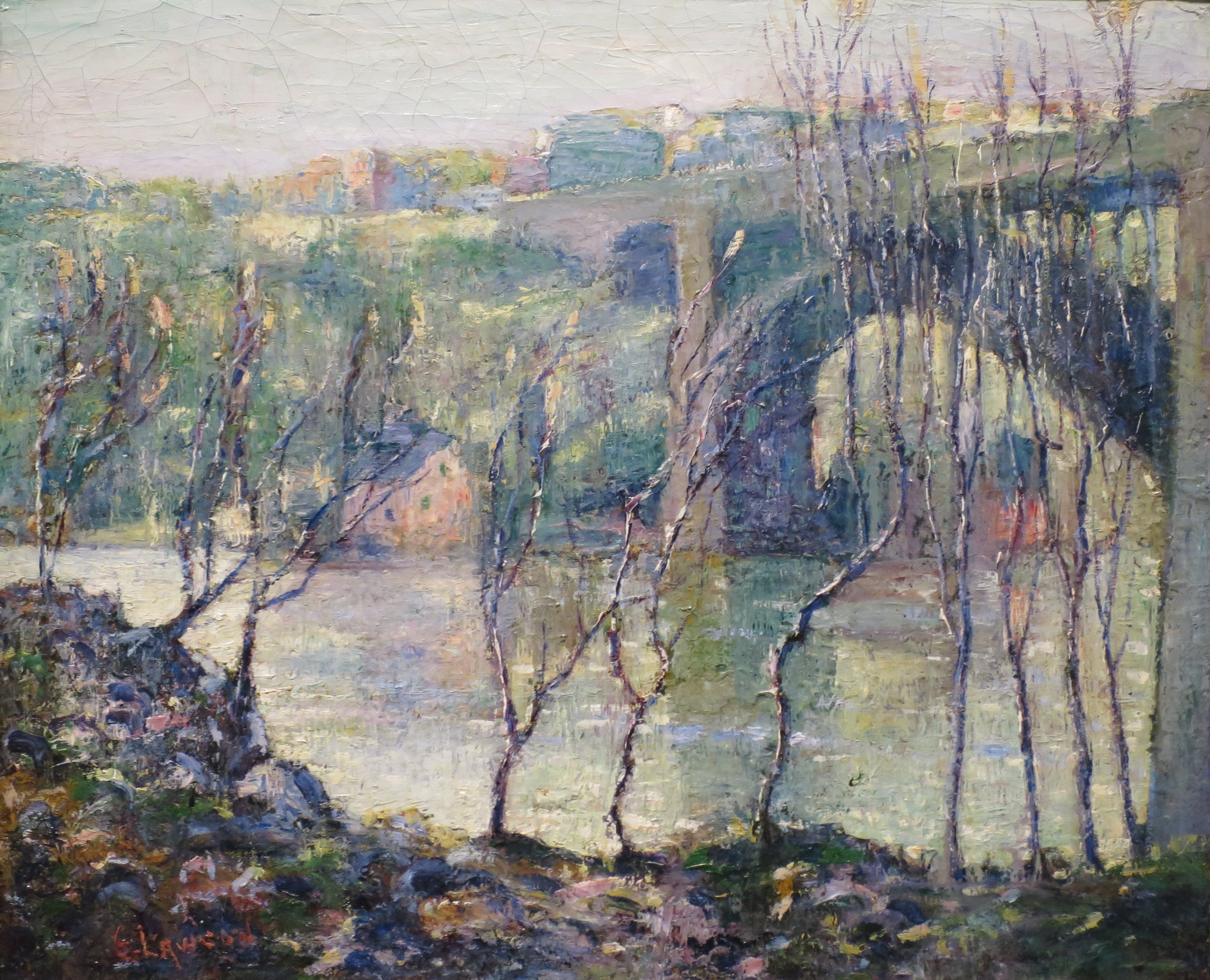 Red Hills Colorado  by Ernest Lawson   Giclee Canvas Print Repro