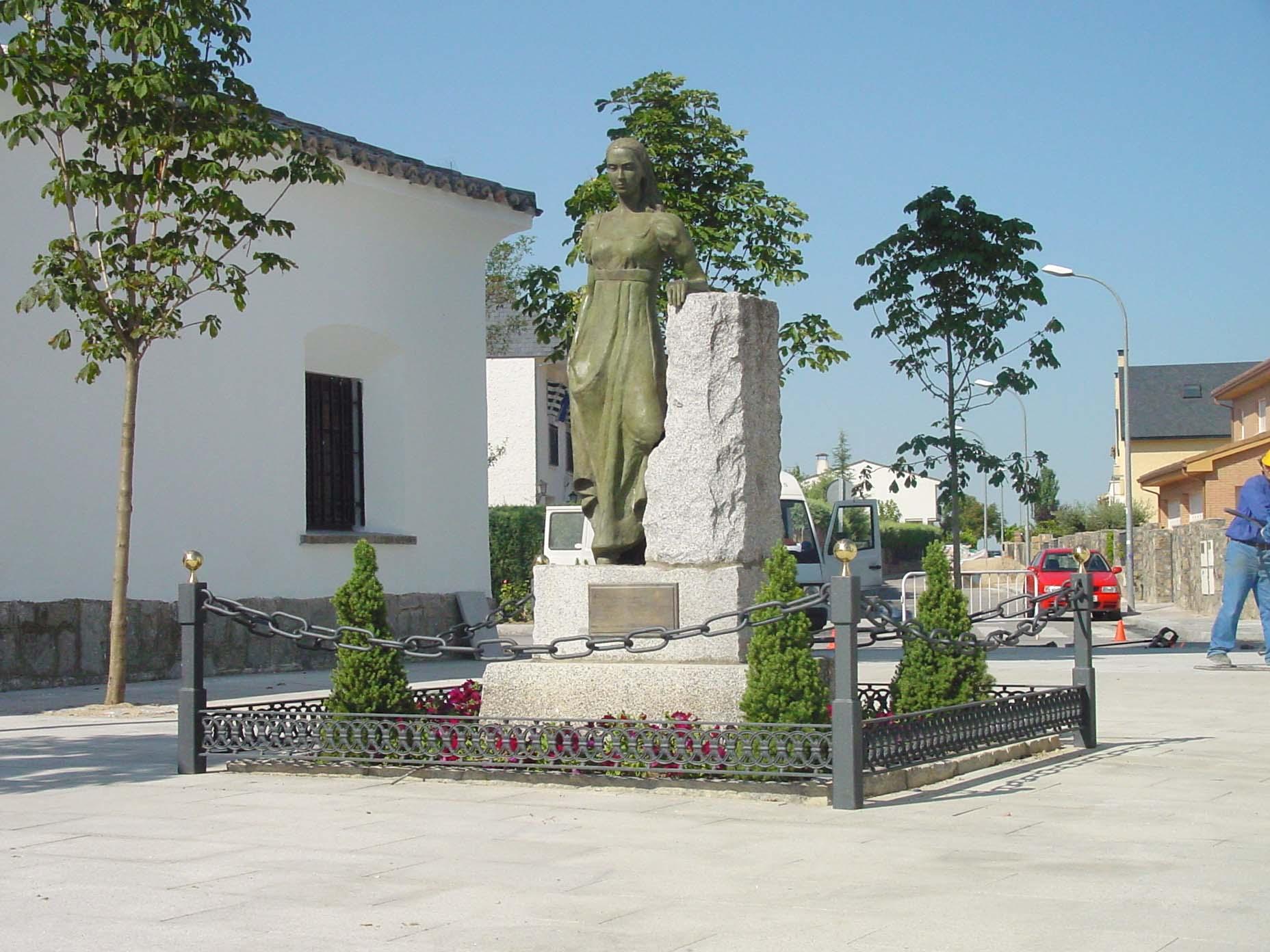 File estatua de la despernada en villanueva de la ca ada - Cb villanueva de la canada ...