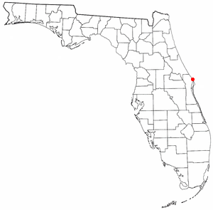Location of Playalinda Beach, Florida