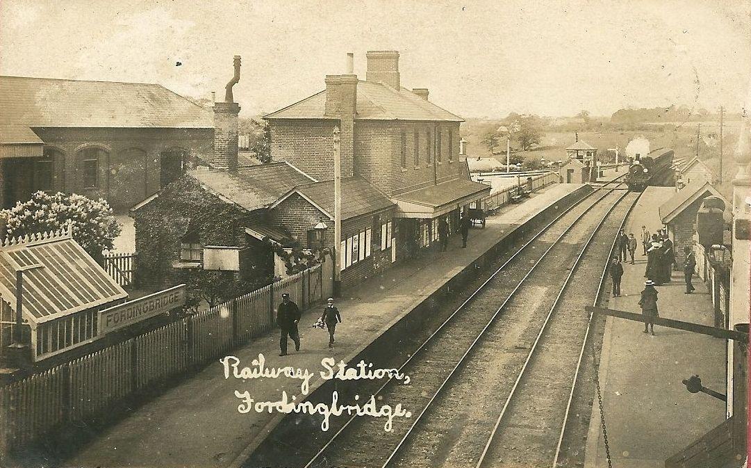 File Fordingbridge Railway Station Postcard Jpg
