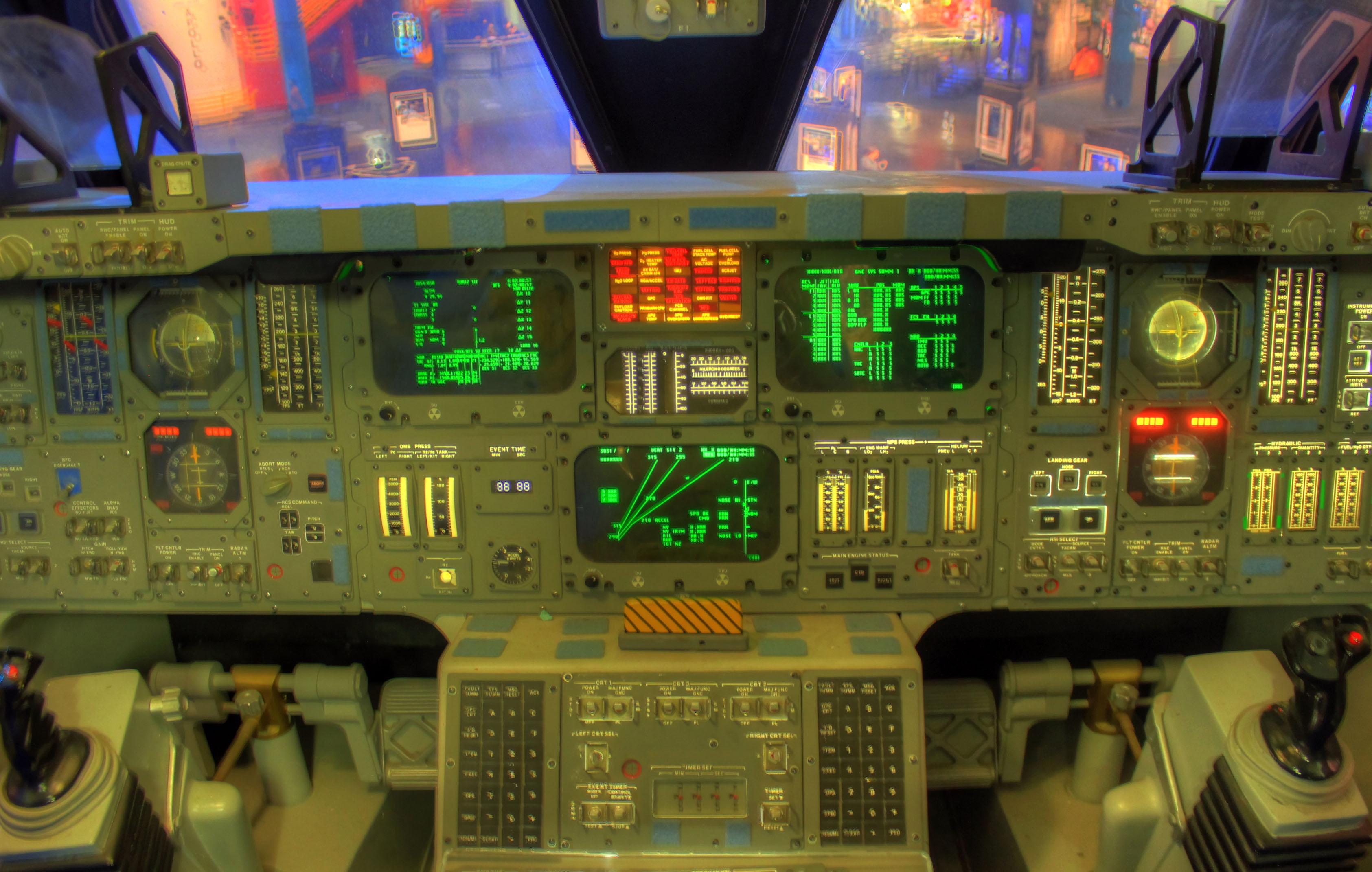 space shuttle original cockpit - photo #7