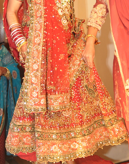 Lehenga with Gota embroidery