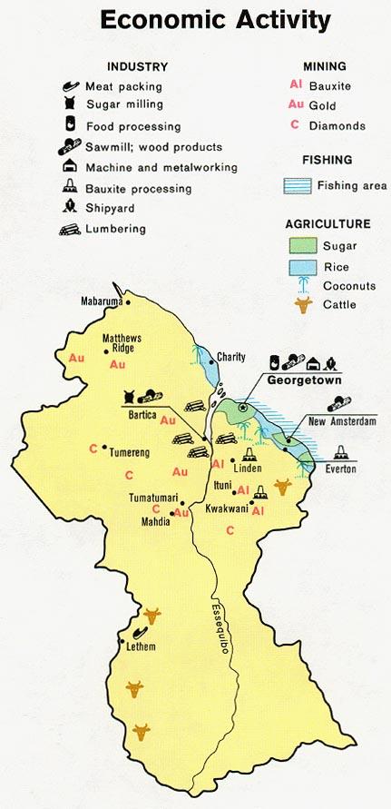 Guyana Natural Resources Map