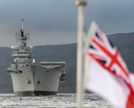 File:HMS Ark Royal Visits HMNB Clyde for the Final Time MOD 45152083.jpg