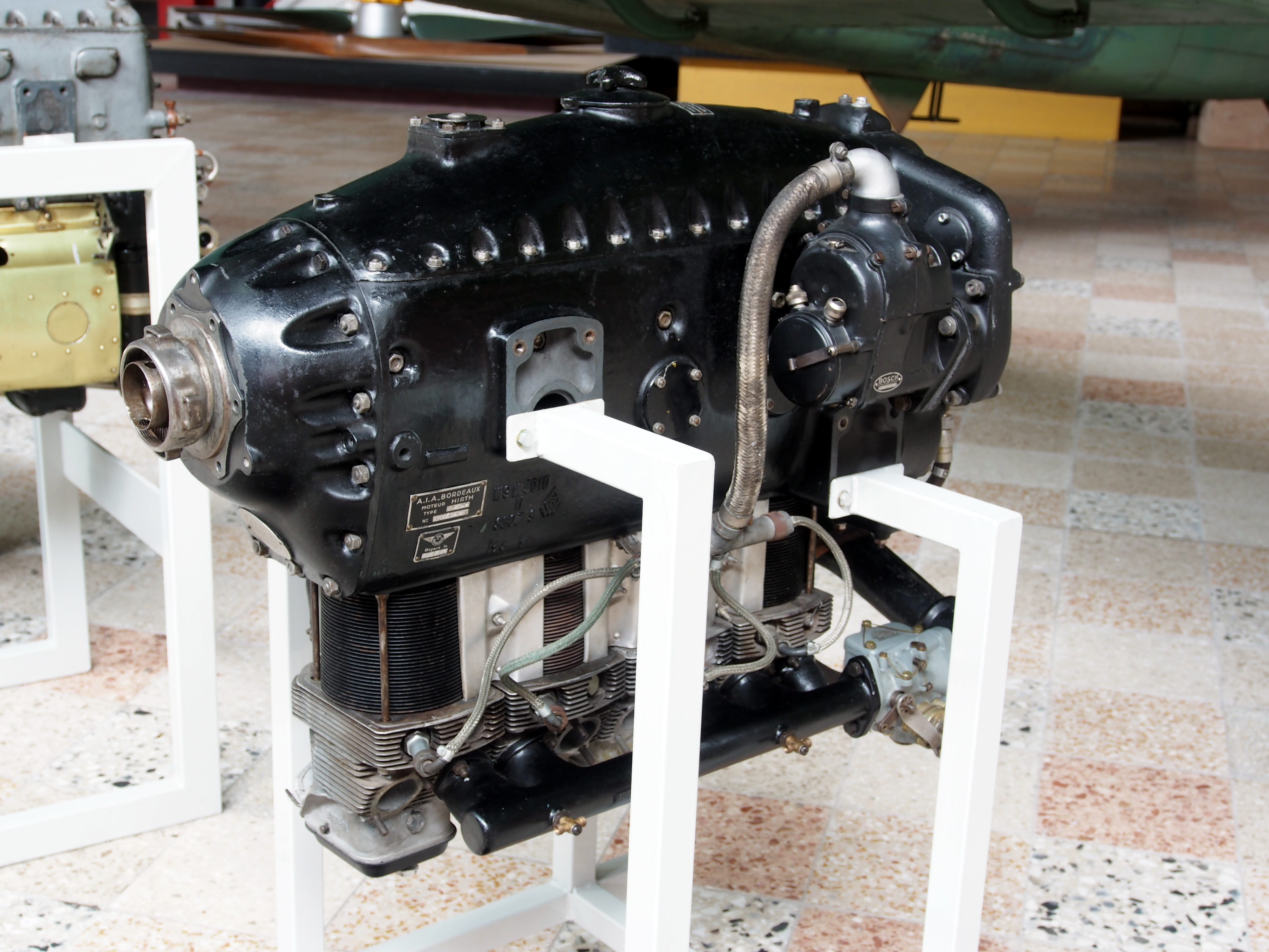 File hirth hm 504 aircraft engine at flugausstellung for Aircraft motors for sale
