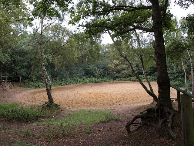 Horse exercise ring, Wimbledon Common - geograph.org.uk - 1454363