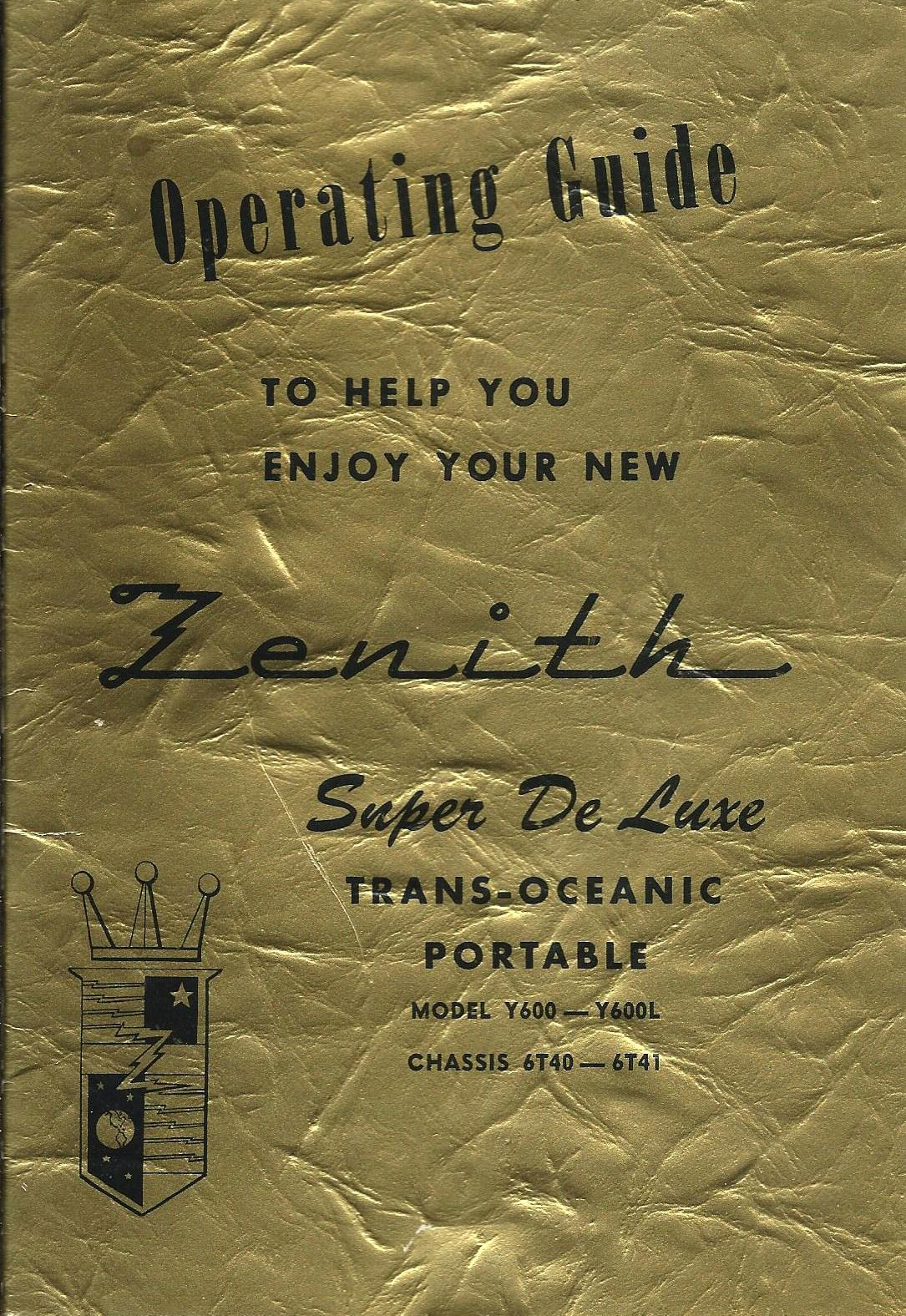 Fileinstruction Booklet For Vintage Zenith Transoceanic Multiband. Fileinstruction Booklet For Vintage Zenith Transoceanic Multiband Tube Radio. Wiring. Zenith Tube Radio Schematics Model 6s At Scoala.co