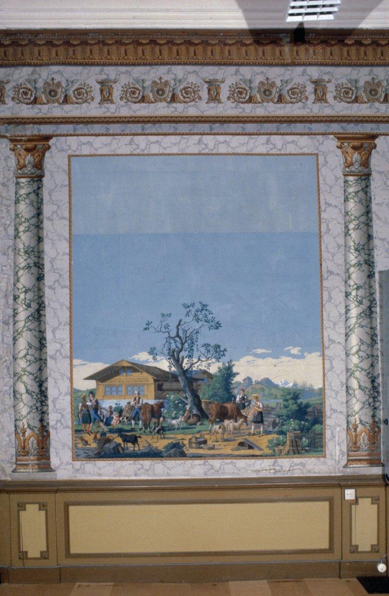 fileinterieur kamer beschilderd behang detail harderwijk 20363614 rce