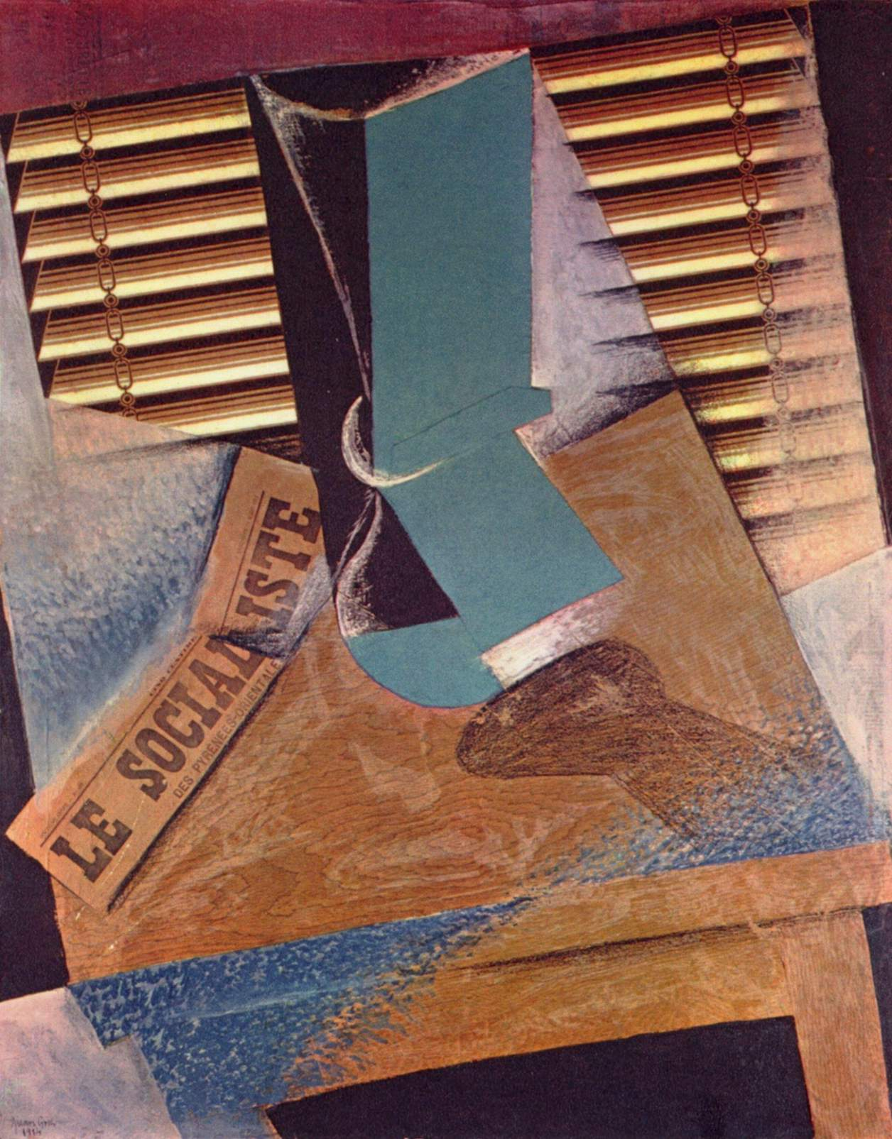 La jalousie, collage de Juan Gris