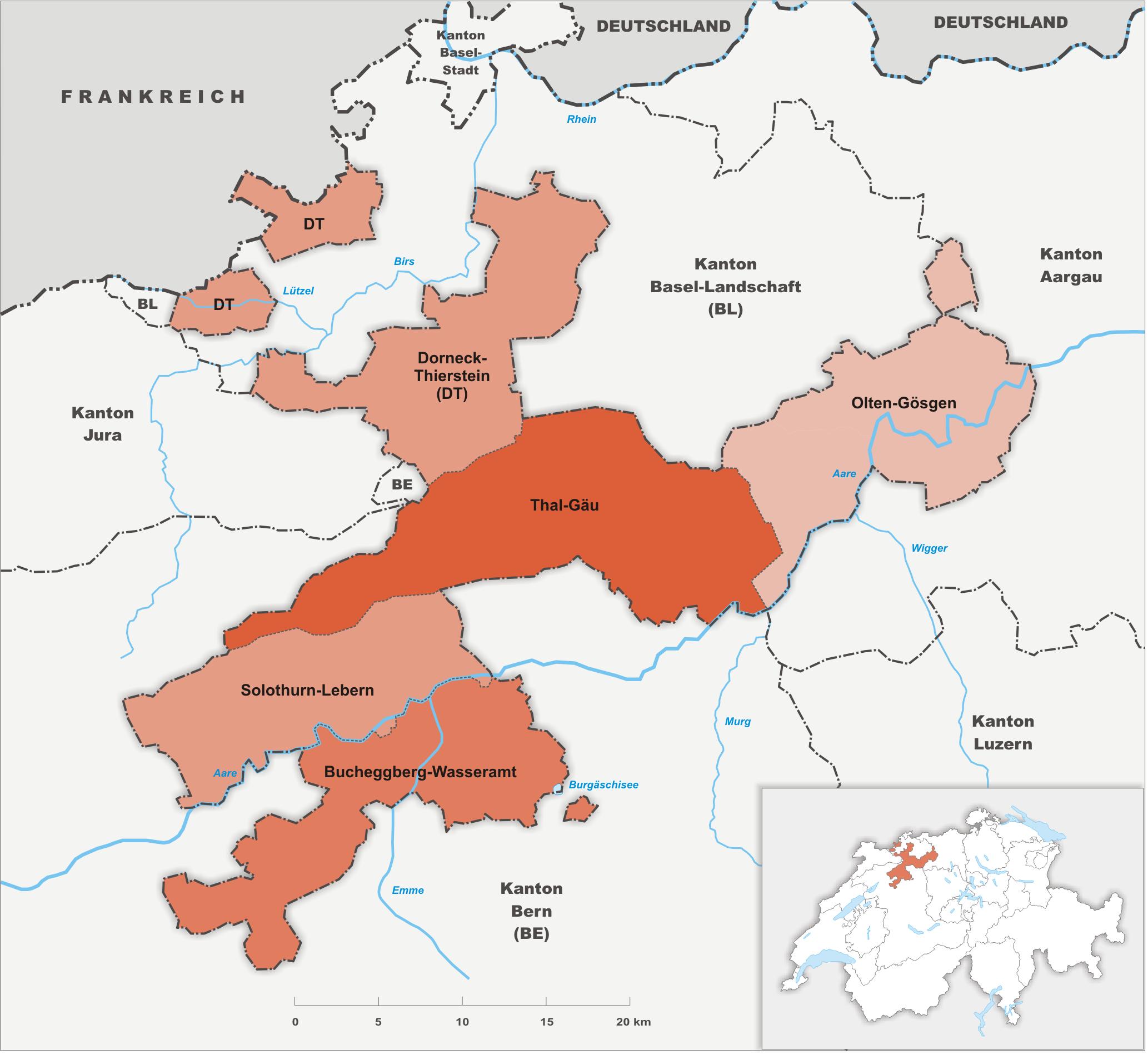Amteien des Kantons Solothurn