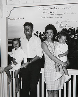 U.S. President John F. Kennedy, First Lady Jac...
