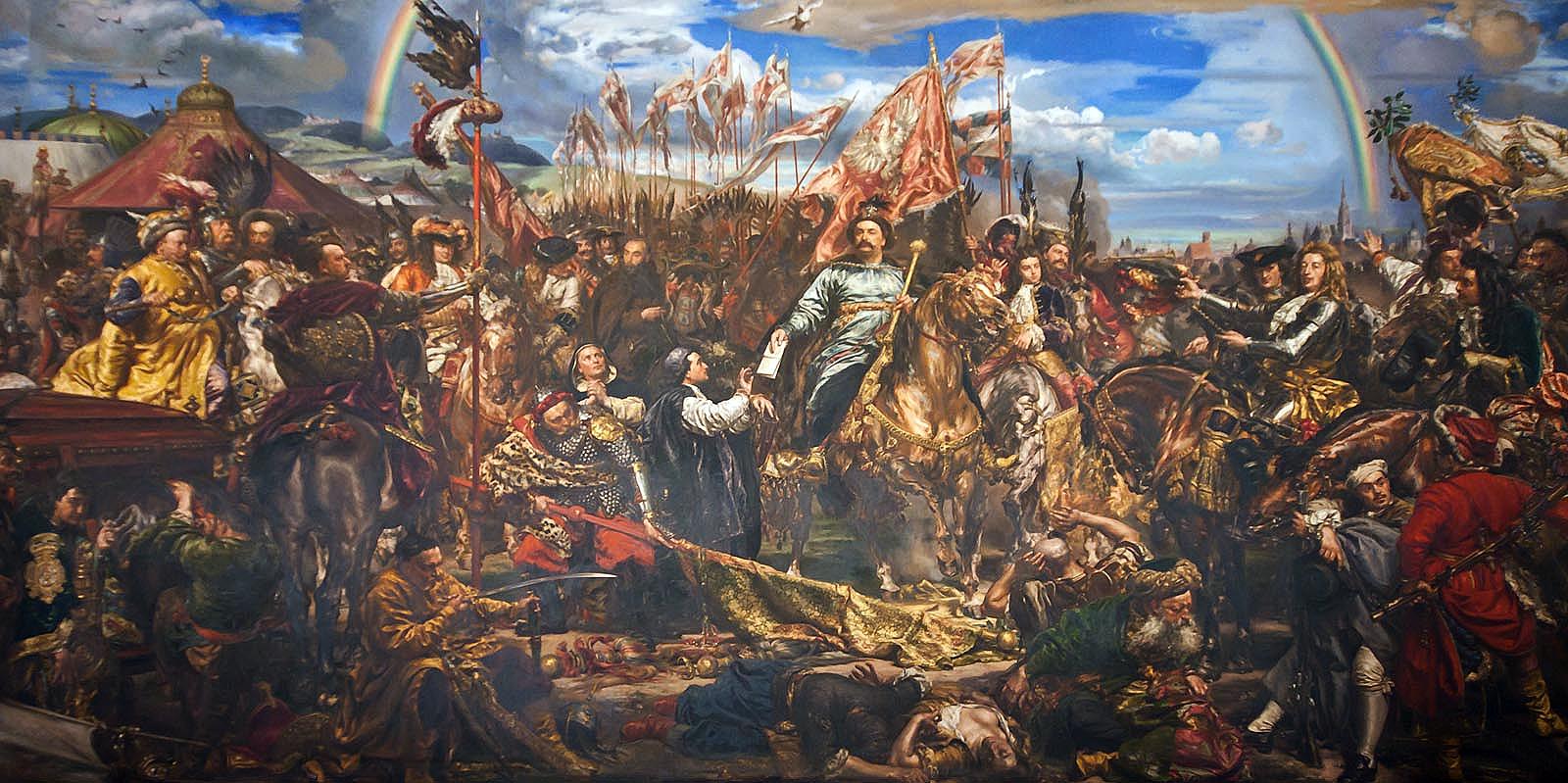 an interpretation of jan matejkos sobieski sending message of victory to the pope King john iii sobieski sending a message of victory to the pope after the battle  of vienna by jan matejko, 1880 [national museum, kraków].