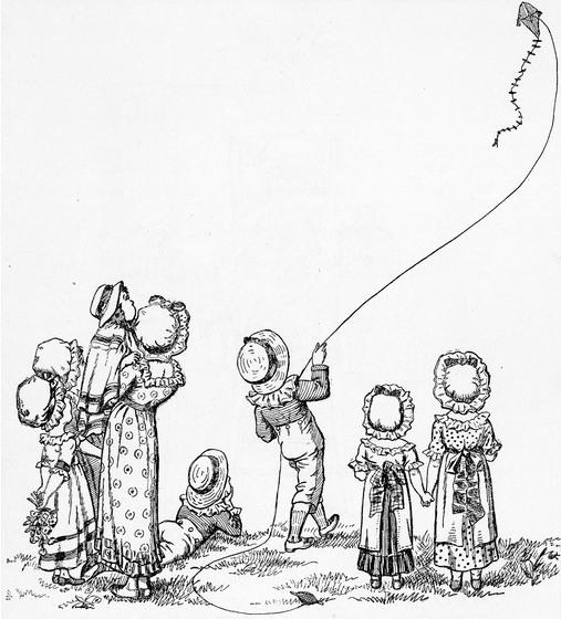 flying kite illustration -#main