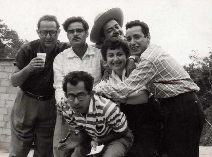 De izquierda a derecha: Manuel Quintana Castillo, Adriano González León, Luis García Morales, Argimiro Gabaldón, Evalina Rodríguez y Ramón Palomares.