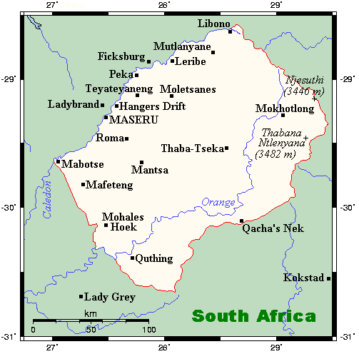 an overview of the lesotho maseru geography and people in africa The four largest districts of maseru percent of the people in lesotho are under the age of 15 the migration of the basotho people to south africa for jobs is.