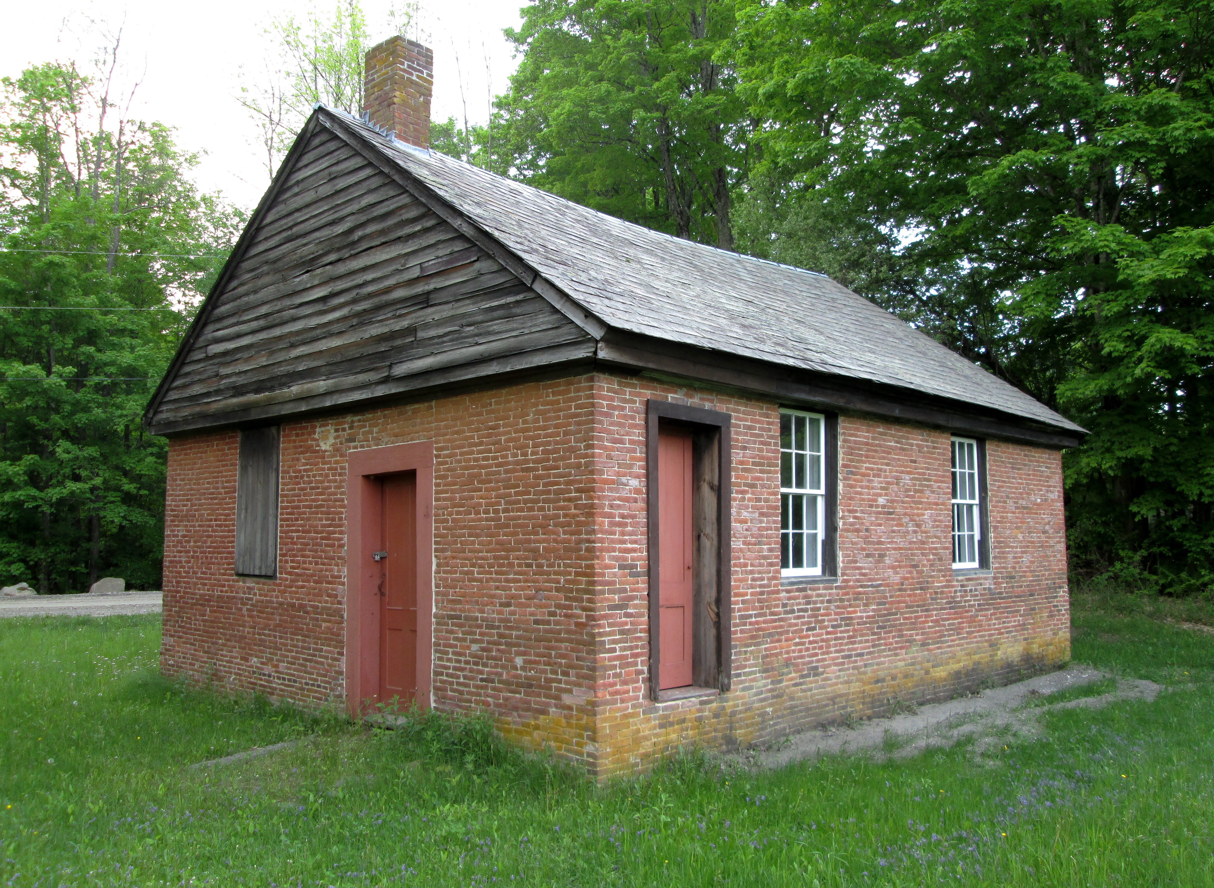 File little brick school house guilford for The guilford house