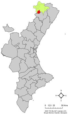Vị trí của Castellfort