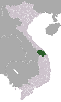 Location of Quảng Nam Province