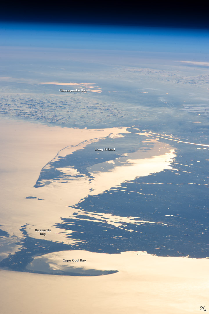 Cape Cod Bay from space