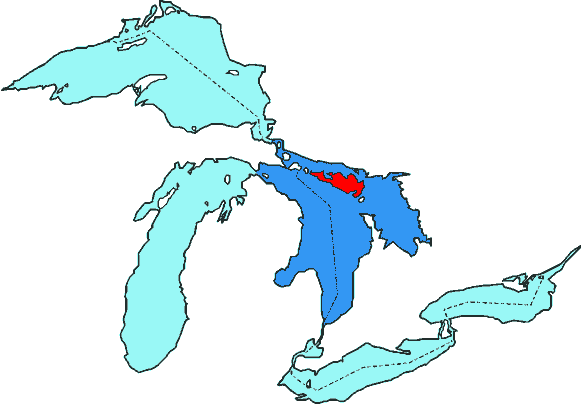 Manitoulin Island in Lake Huron