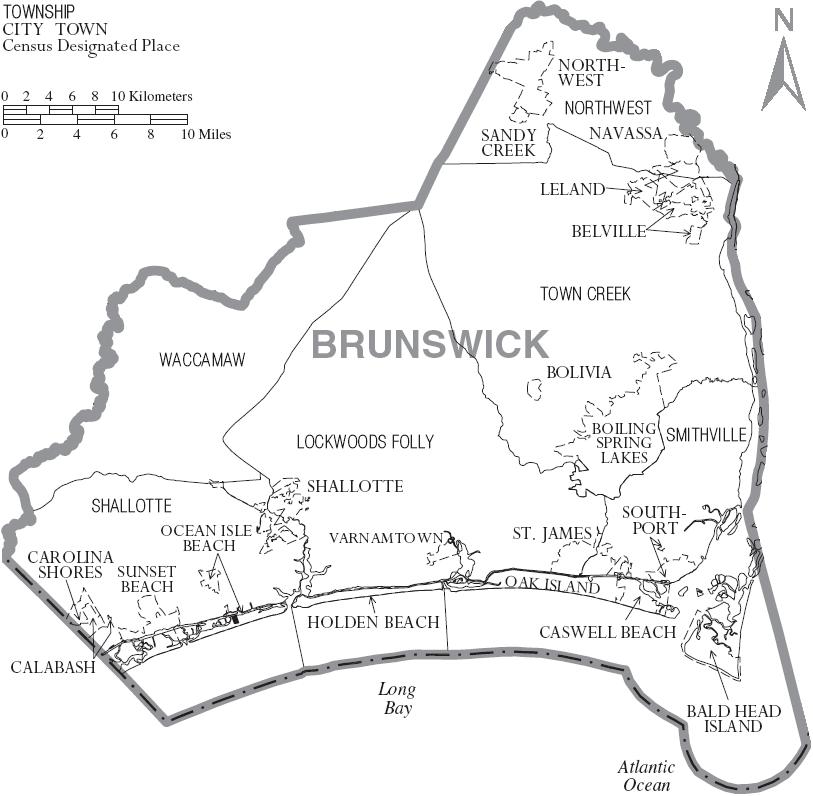 File:Map of Brunswick County North Carolina With Municipal and