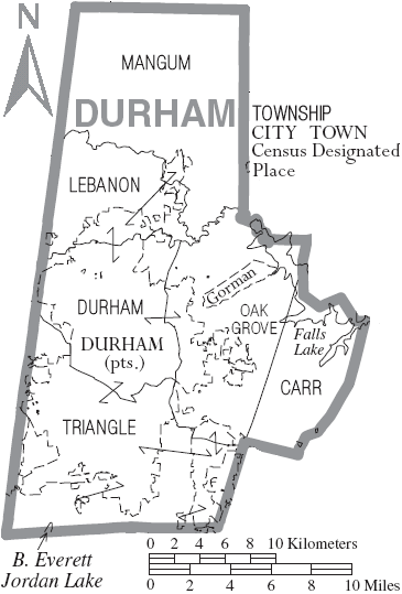 Durham County Map Durham County, North Carolina   Wikiwand