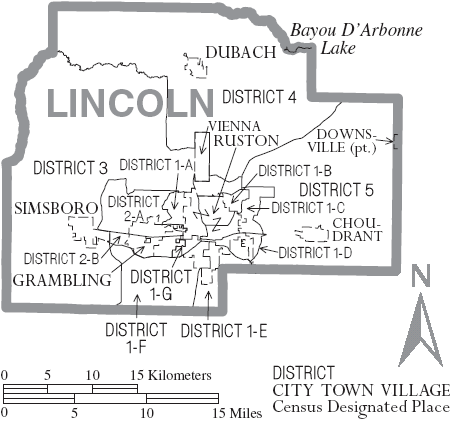 File Map Of Lincoln Parish Louisiana With Municipal And