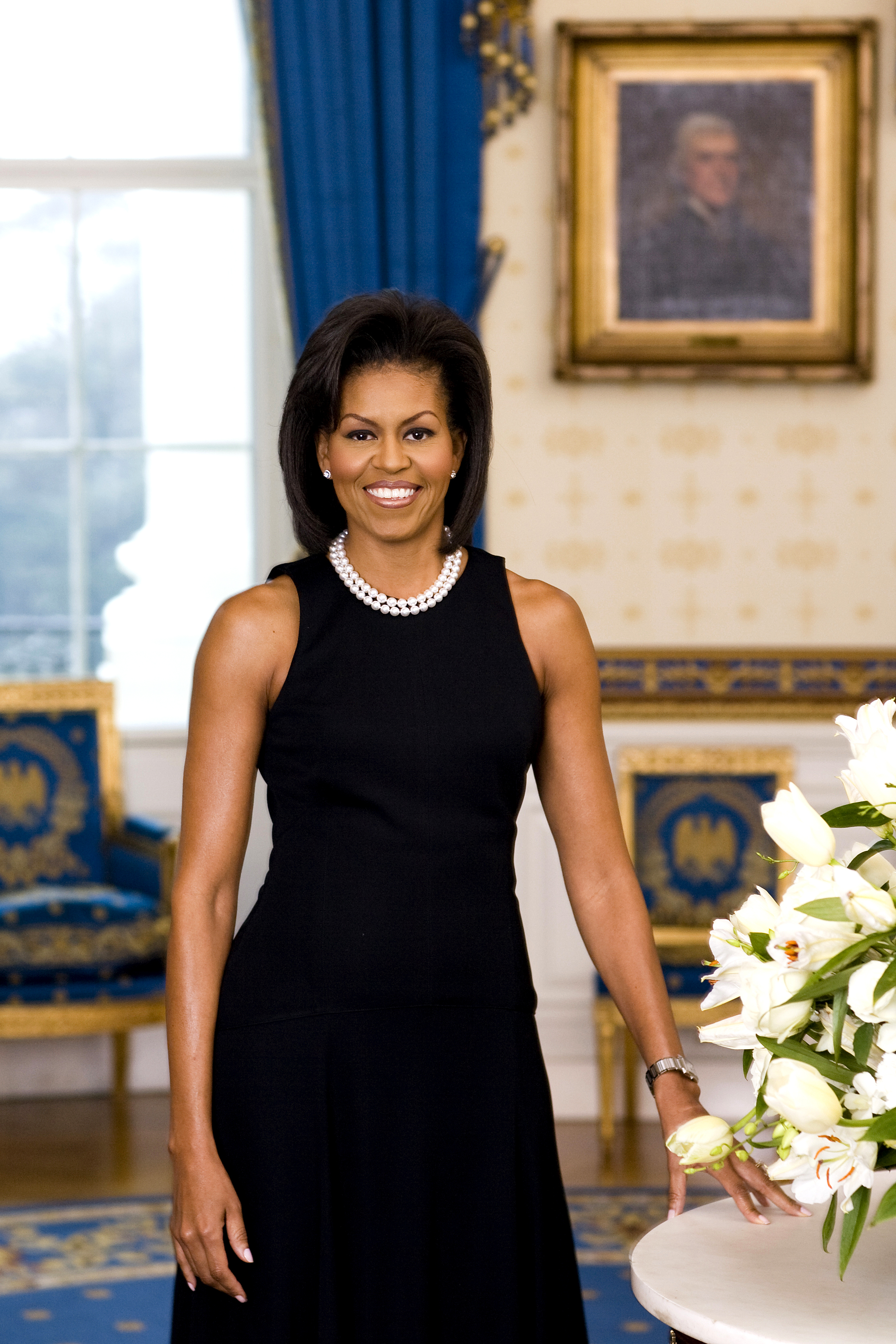 Michelle Obama wearing the Cartier Tank W51008Q3