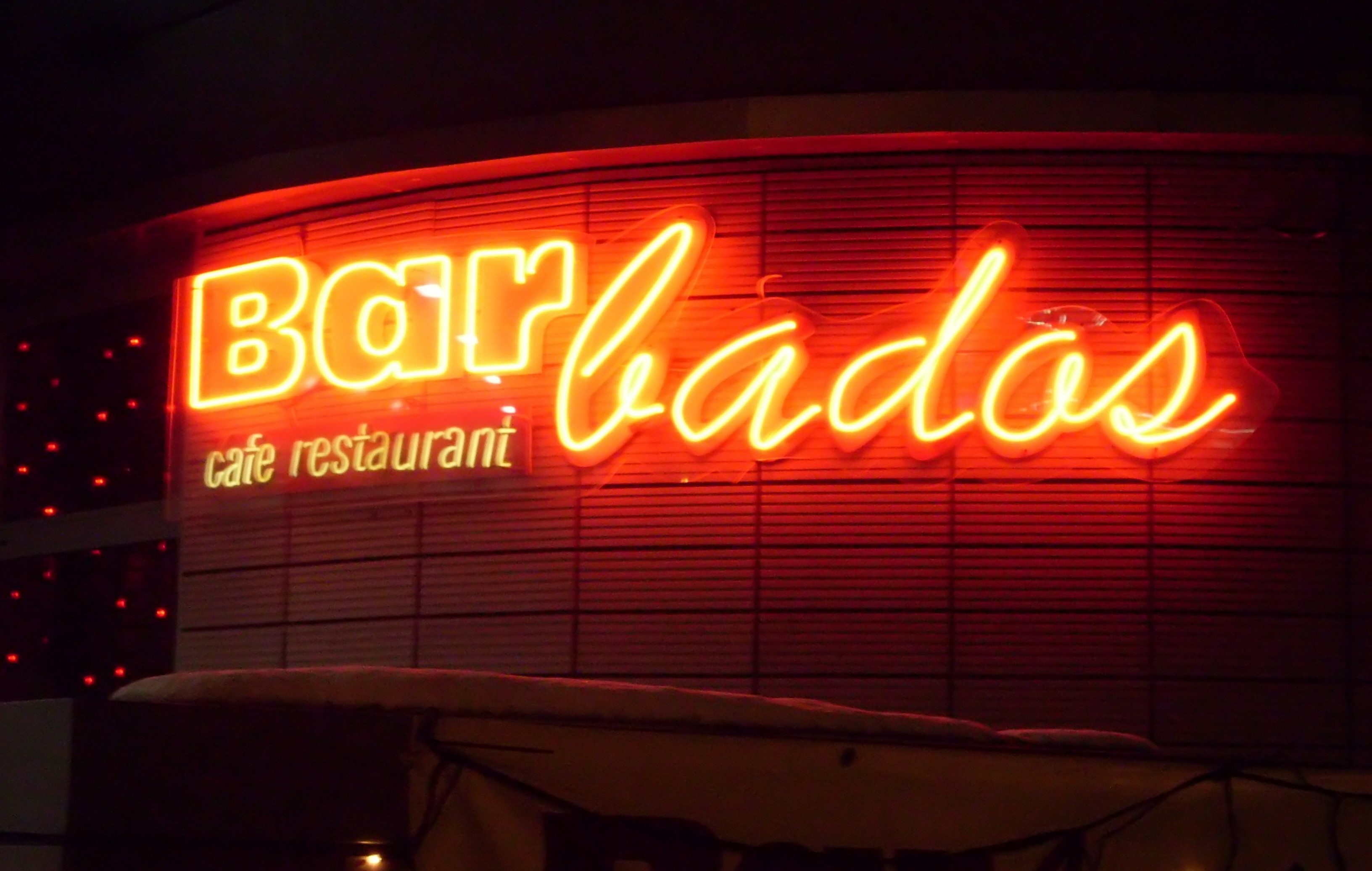 Elegant File:Neon Lamps Of Cafe And Restaurant BARbados At Shopping Arcade  Kwiatkowski, Gdynia.