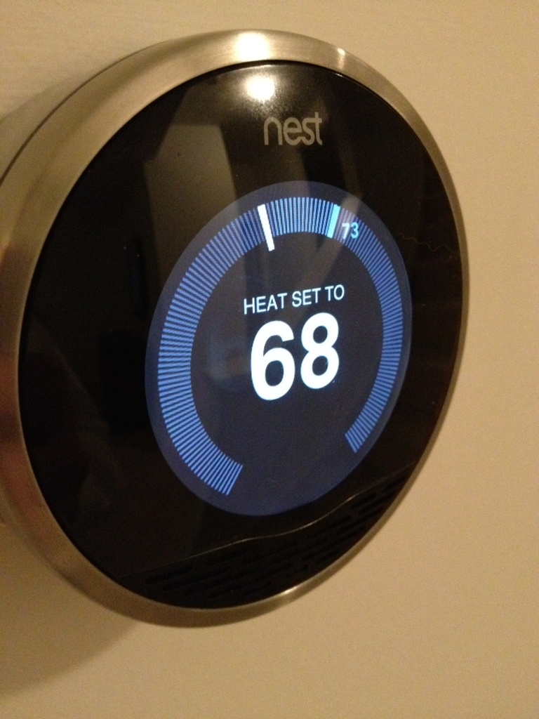 Smart thermostat wikipedia - Nest thermostat stylish home temperature control ...